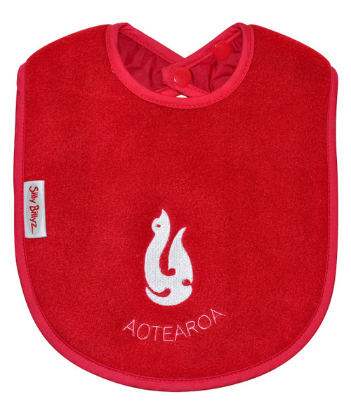 Perfect for bottle feeding your baby or starting to eat solids. Fleece allows for quick wipe down of liquids.