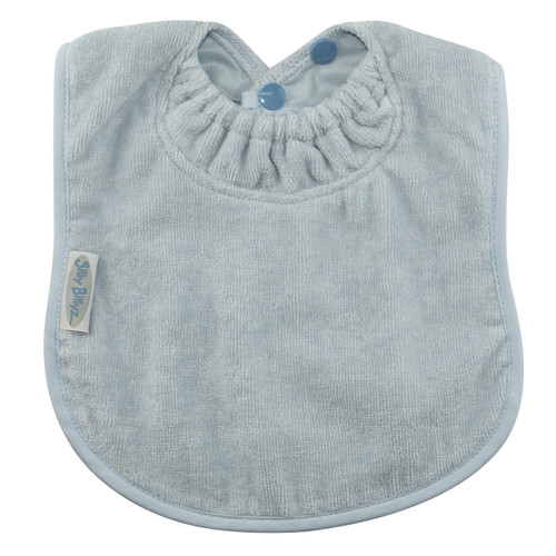 This bib is designed for bottle or breast feeding and for the messy first days of solids.