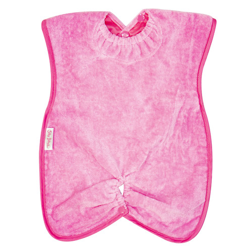 Cerise Towel Highchair Hugger Bib
