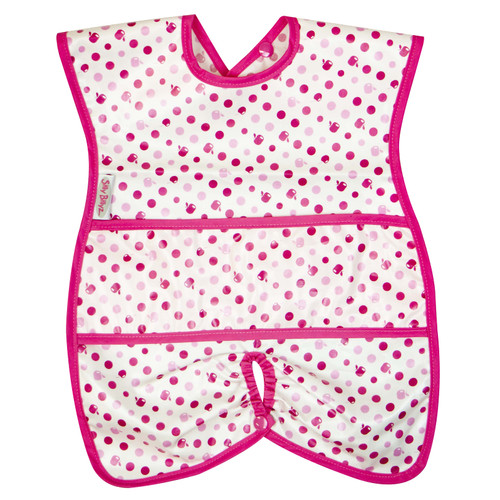 Dots Wipe Clean Highchair Hugger Bib