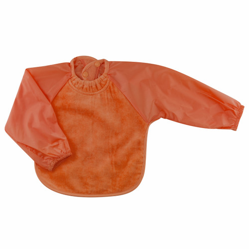 Orange Towel Long Sleeve Bib