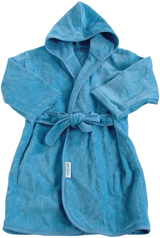 Made from our durable and beautifully soft organic cotton, the simple waist tie means your toddler will not trip on loose ties hanging down and the hood makes sure that little heads are kept warm too.