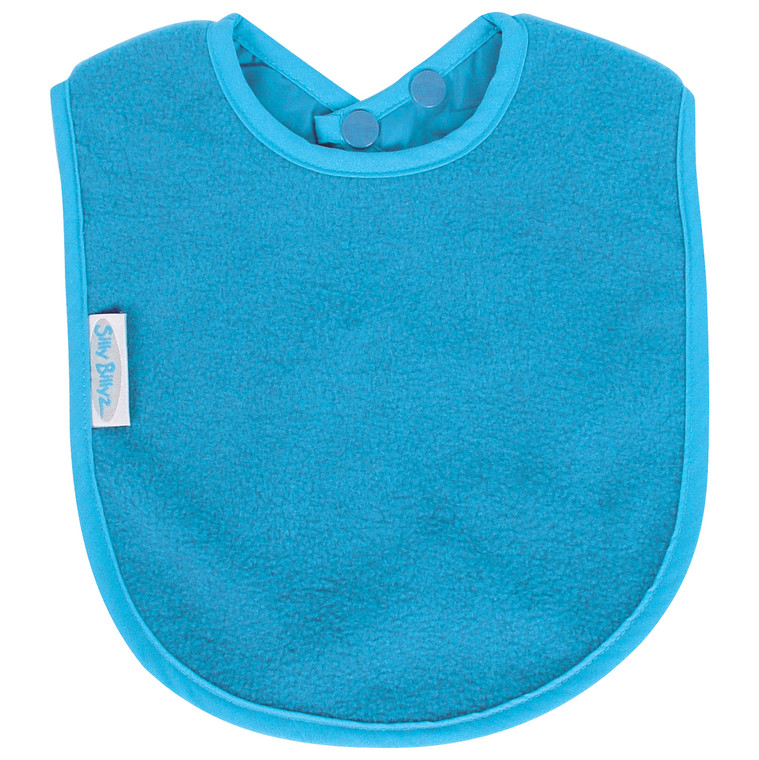 Perfect for bottle feeding your baby or starting to eat solids. That can be messy! Fleece allows for quick wipe down of liquids.