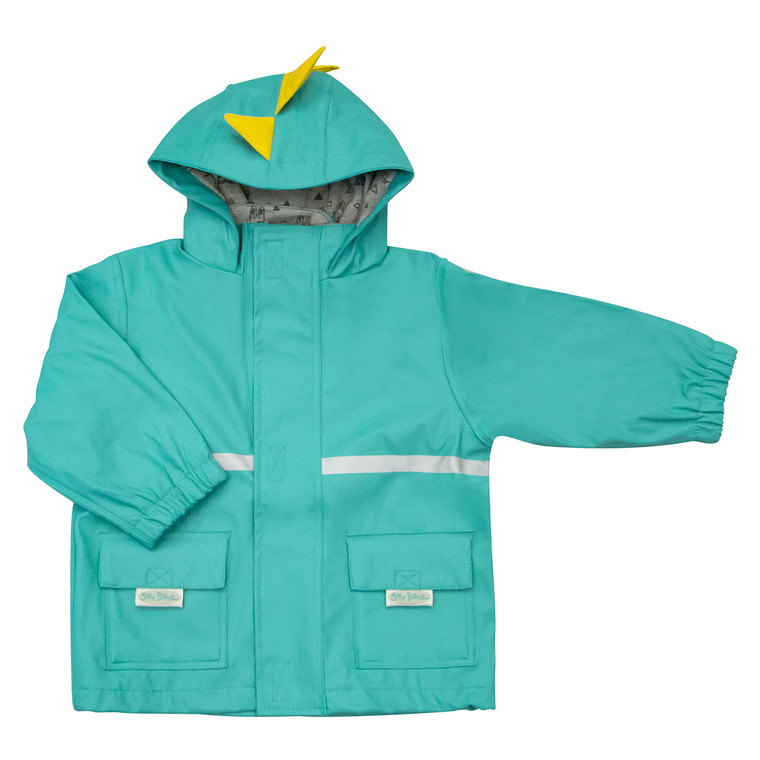 Elastic cuffs and combined zip and Velcro closure to keep wind and water out.