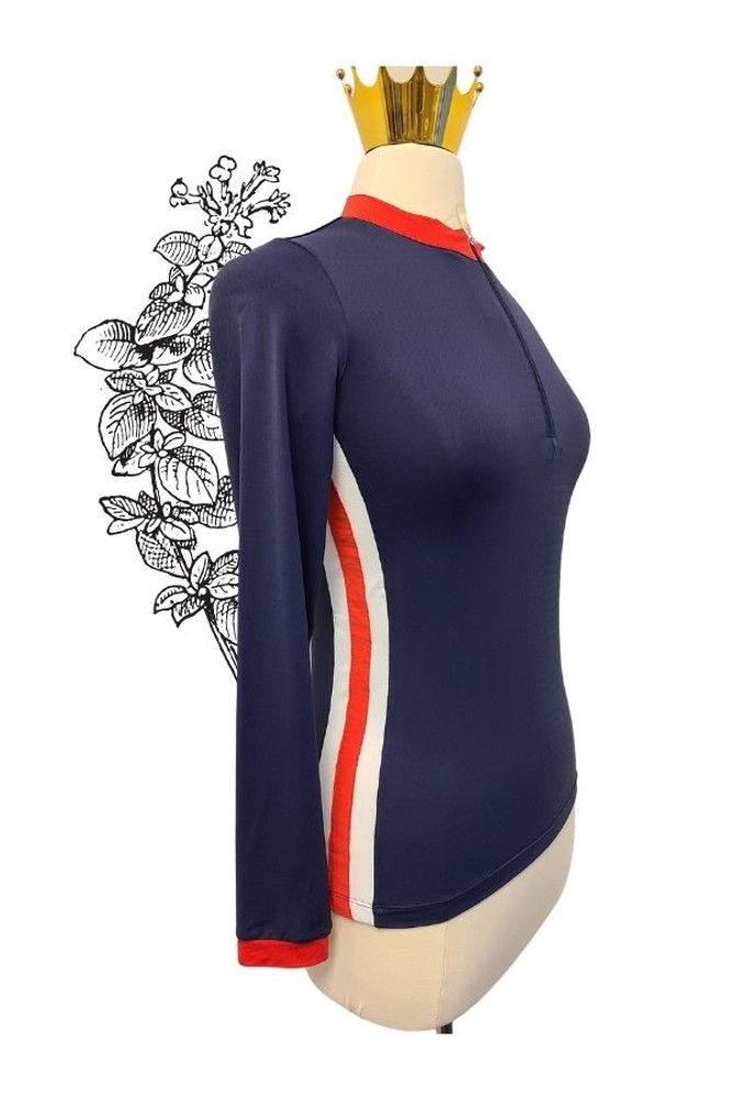 Navy, with Red and White side stripe