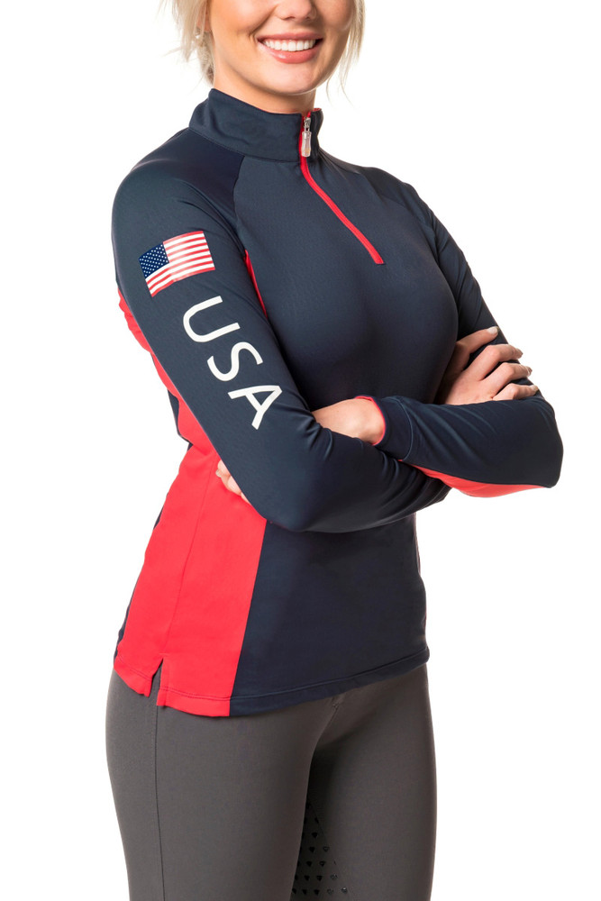 Navy with Red USA Colorblock