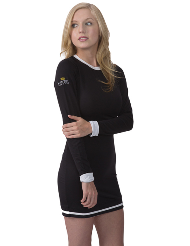 Charlotte Collection Black With White Trim Dress Kasteldenmark