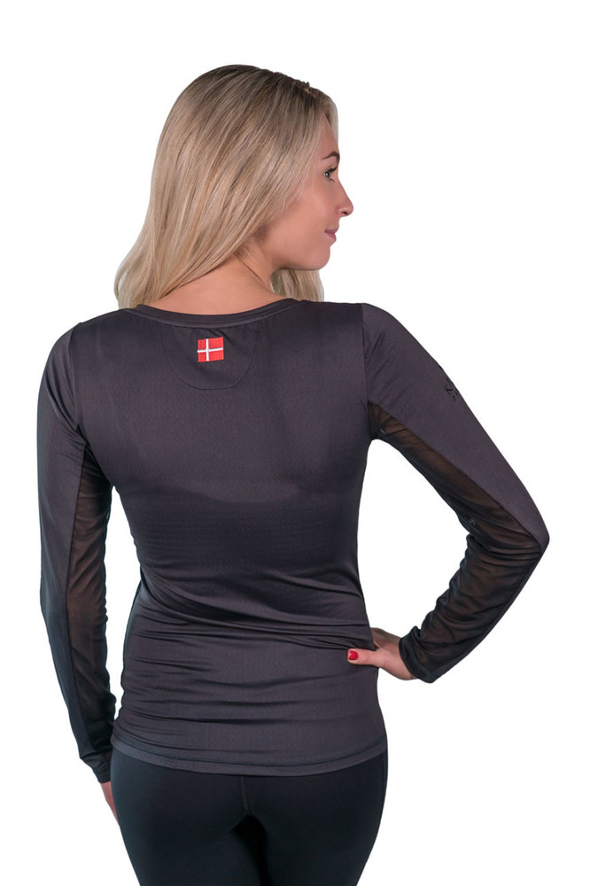 Long Sleeve V-Neck Black with Black Trim