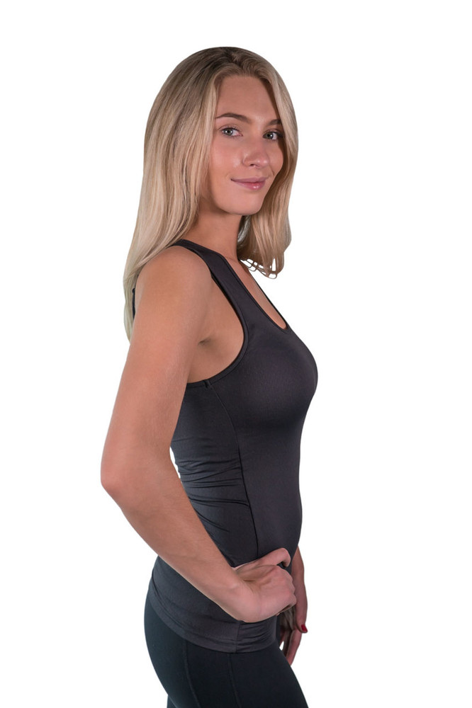 Tank Top Black with Black Trim