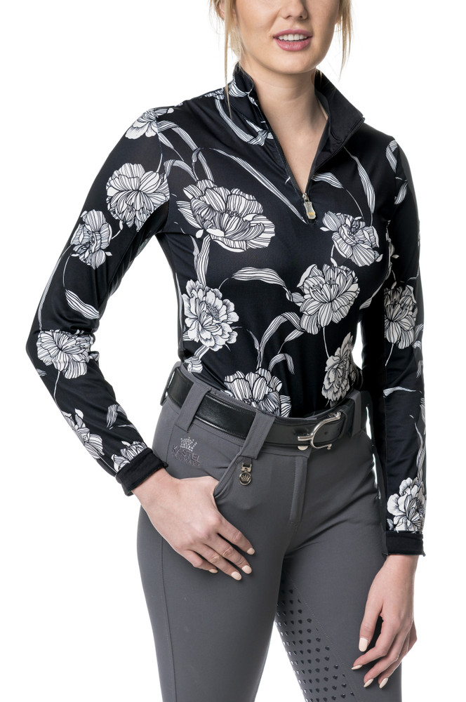 Black and White Floral Long Sleeve