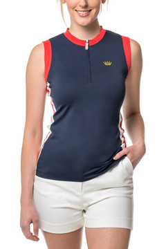 Navy, Red and White Stripe Tank