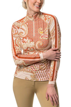 Blush Paisley Print with Trim