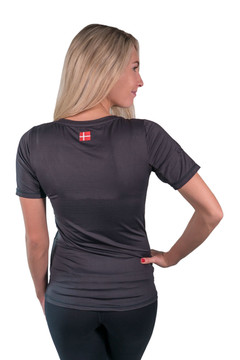 Short Sleeve V-Neck Black with Black Trim