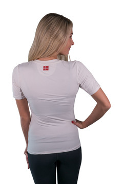 Short Sleeve Crew Neck White with White Trim
