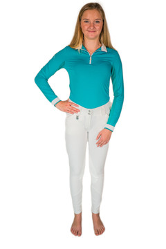 Knee Patch Suede Breech White
