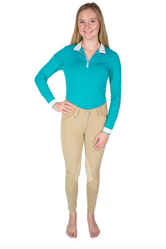 Knee Patch Suede Breech Tan