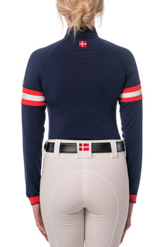 Navy with Red and White Chevron Champion Collection Medium Weight