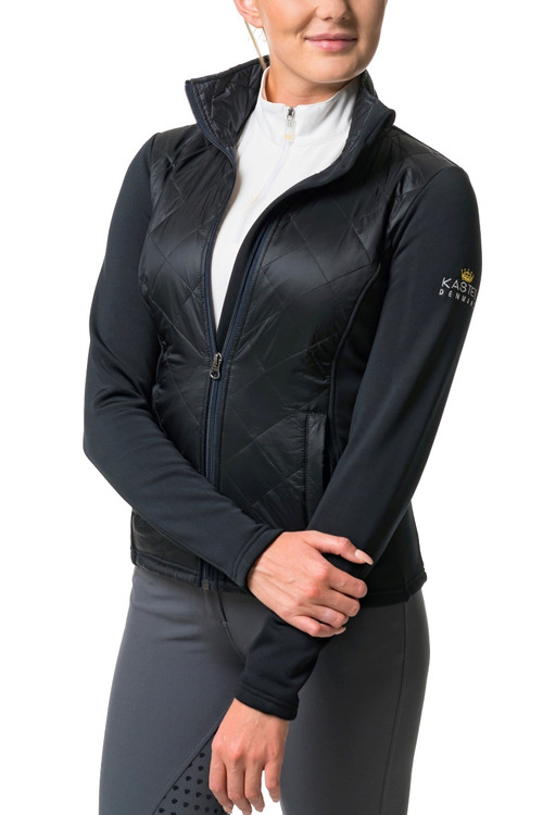 Black Quilted Front Jacket