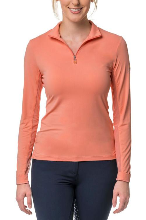 1/4 zip Blush sun shirt
