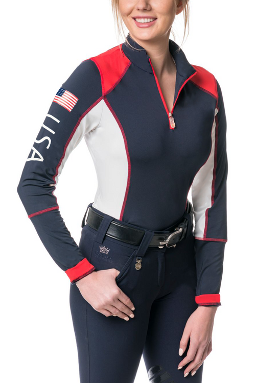 Limited Edition USA Navy, Red and White Colorblock