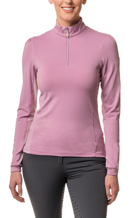 Lilac Shirred Shoulder