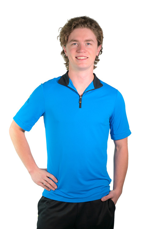 Short Sleeve Shirt Royal Blue with Black Trim