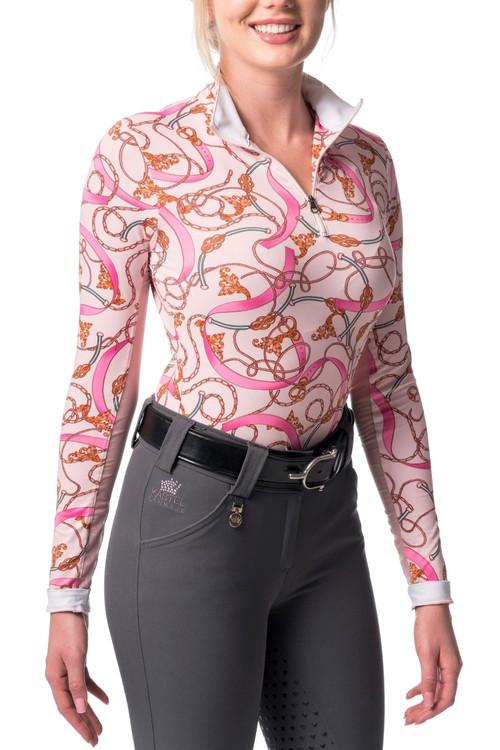 Pink Chain Print Long Sleeve