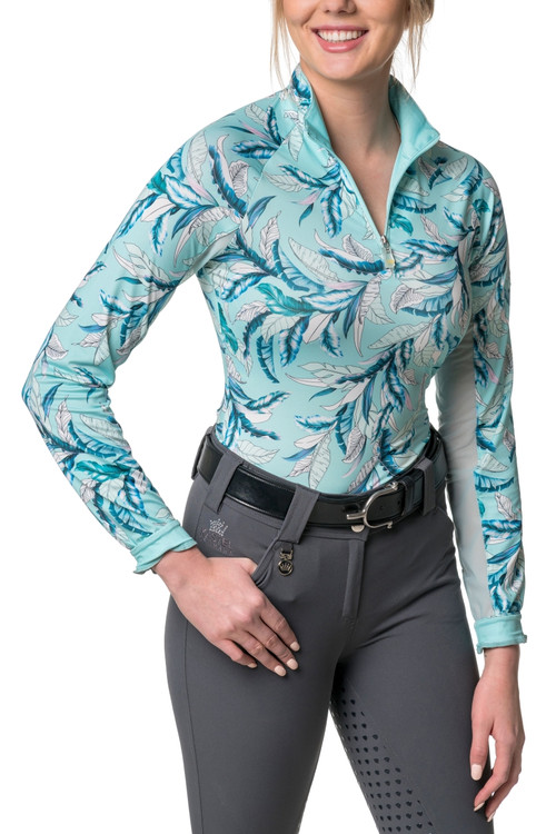 Lightweight Long Sleeve Tropical Print