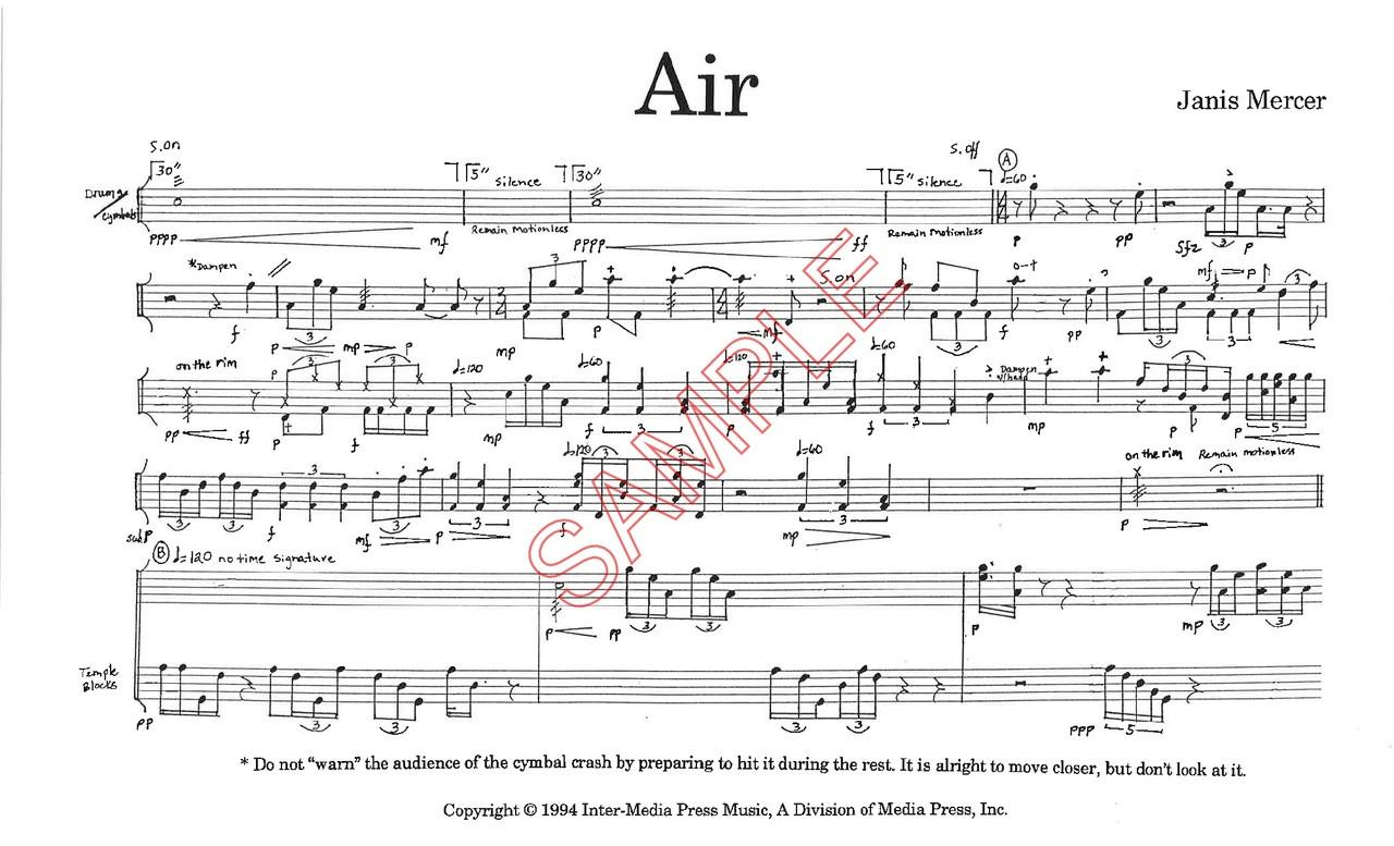 Mercer, Janis- Air, Solo for Extended Drum Set (Digital Download)