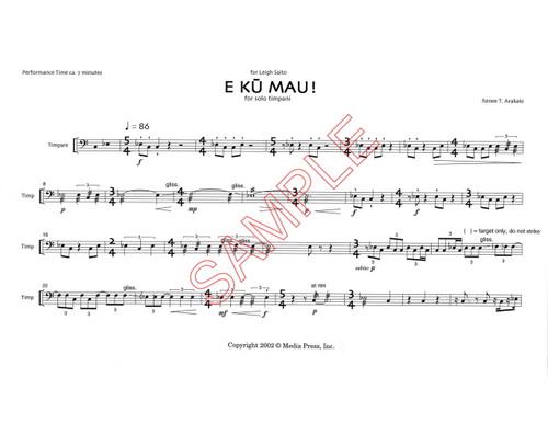 Sheet Music - Percussion - Page 1 - Media Press