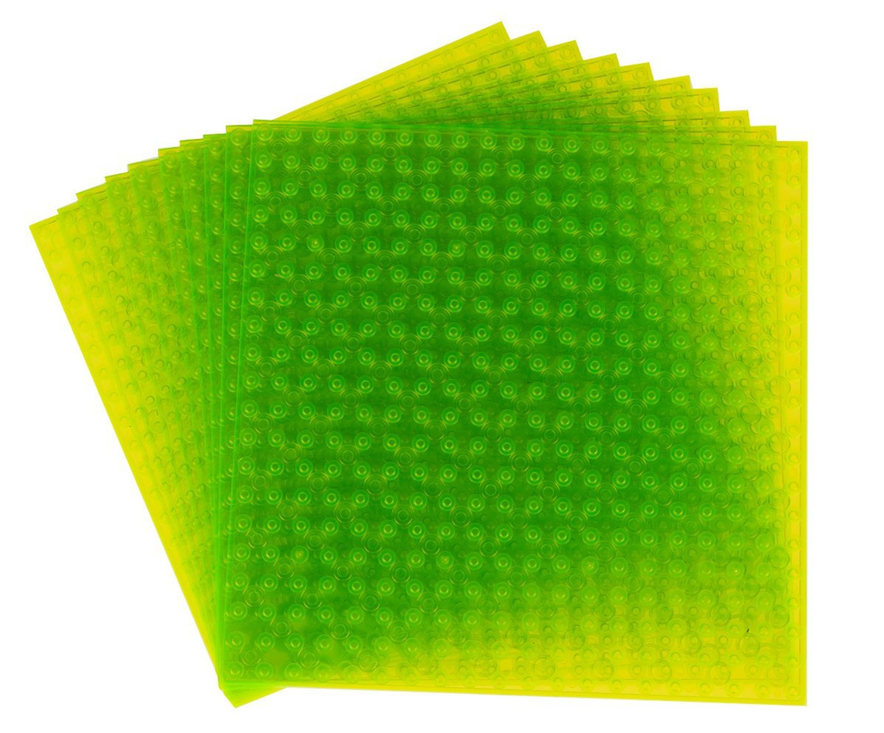 10 Stackable Bases /& 40 stackers in Light Green Building Bricks for Towers Strictly Briks Classic Baseplates 6 x 6 Building Brick Baseplates Compatible with All Major Brands