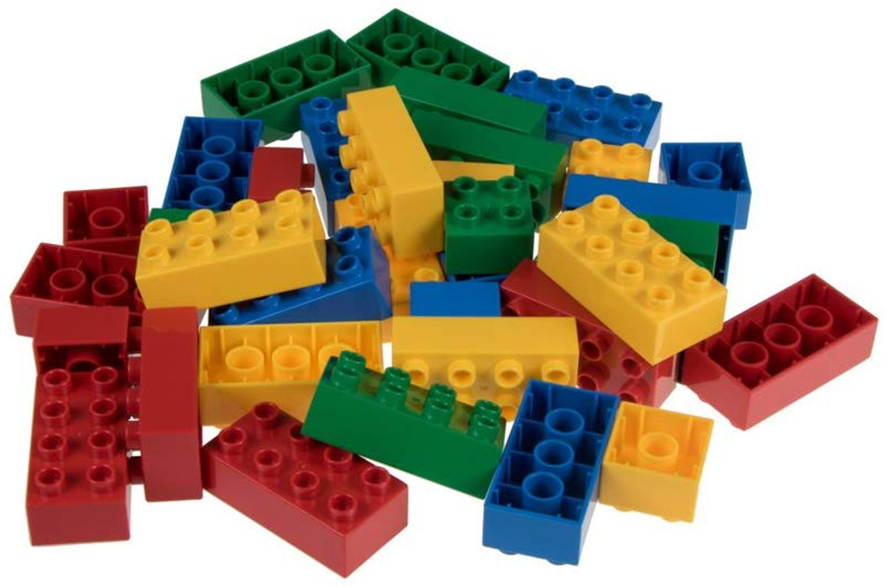 Ages 3 and Up Strictly Briks Big Briks 16 Piece Yellow 2x4 Building Brick Creative Play Set 100/% Compatible with All Large Block and Brick Brands