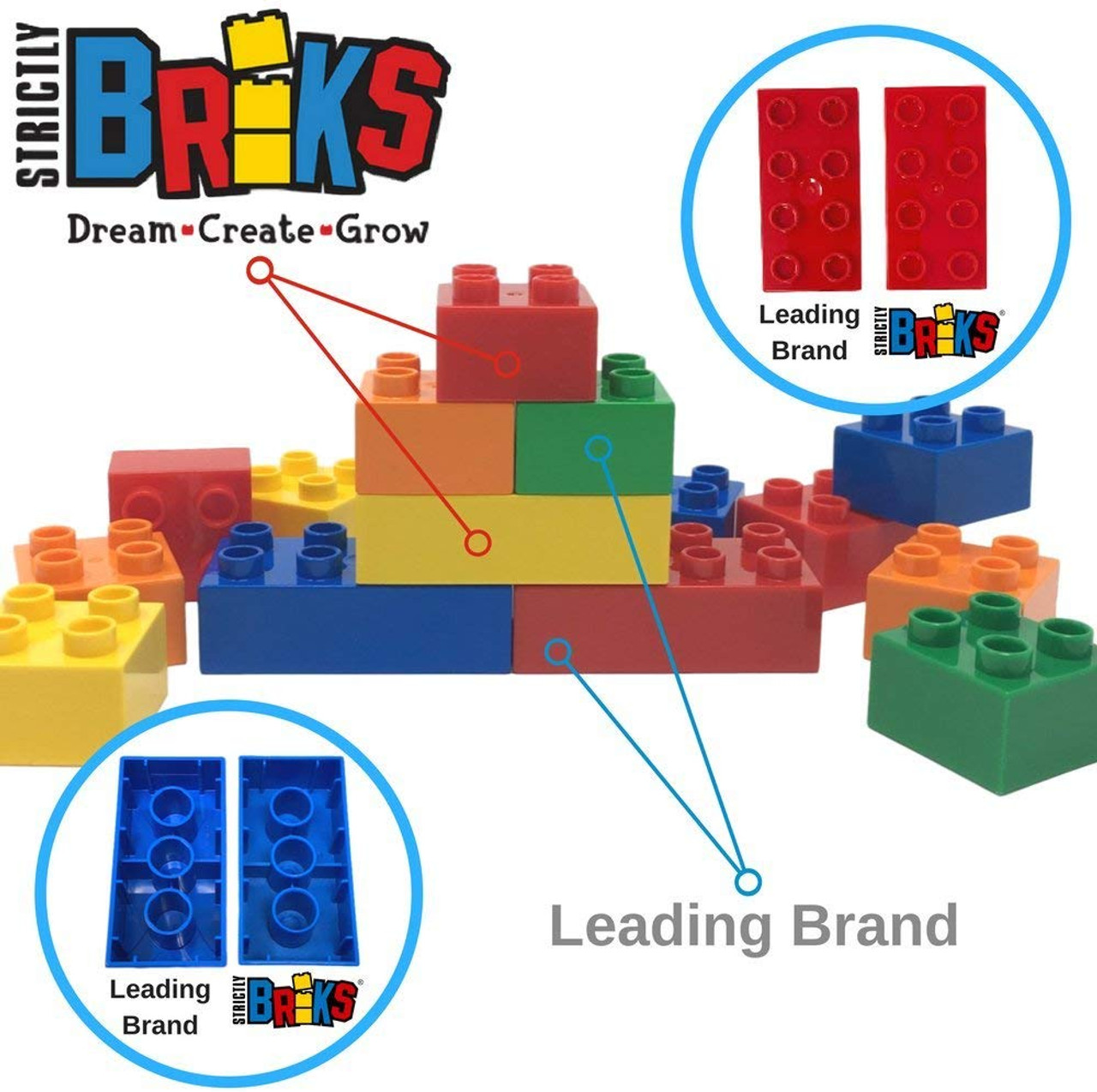 Strictly Briks Classic Bricks 96 Piece 2x4 Black Building Brick Creative Play Set 100/% Compatible with All Major Brick Brands