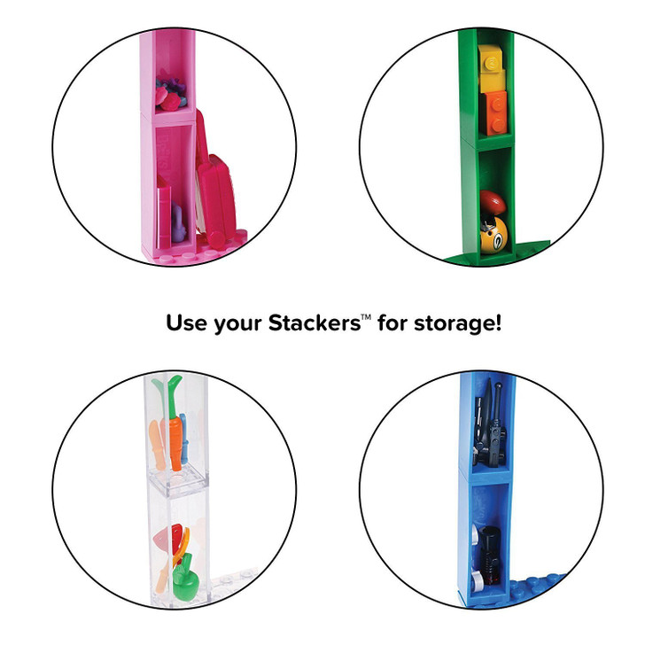 """Strictly Briks Classic Stackable 6"""" Half Circle, Triangle, Square Baseplates 100% Compatible with All Major Brands 