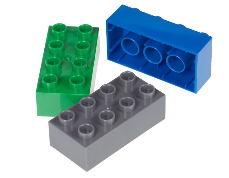 Strictly Briks Classic Big Briks Building Brick Set 100% Compatible with All Major Brands | 2 Large Block Sizes for Ages 3+ | Premium Building Bricks in Blue, Green, and Gray | 108 Pieces