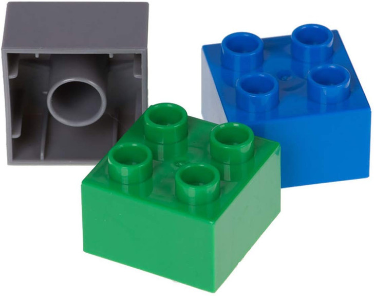 Strictly Briks Classic Big Briks Building Brick Set 100% Compatible with All Major Brands   2 Large Block Sizes for Ages 3+   Premium Building Bricks in Blue, Green, and Gray   108 Pieces