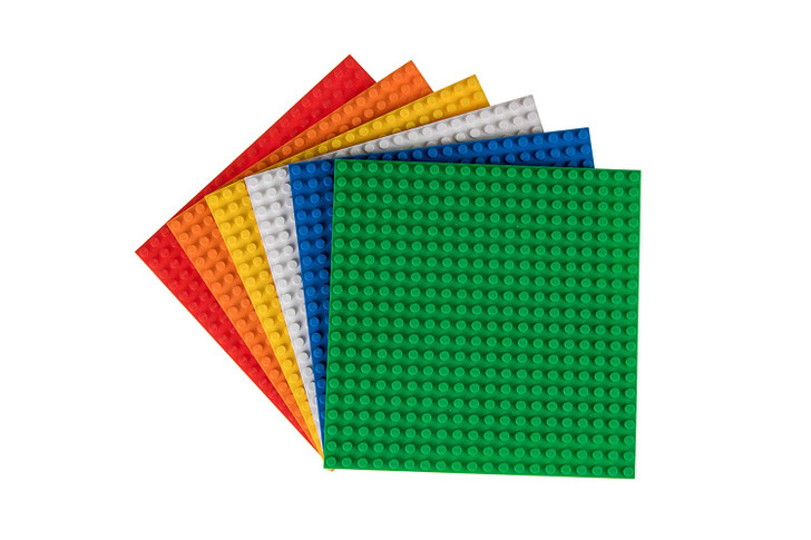 Rubiks Briks Classic Baseplates 20x20 Building Brick Stackable Base Plates | STEM Toys from Inventor of Rubik's Cube | Compatible with Major Brands | 6 Rubik's Cube Colors