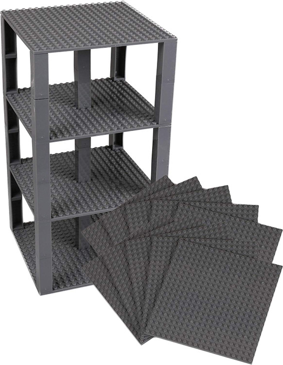 "Strictly Briks Classic Stackable Baseplates 6"" x 6"" Brik Tower 100% Compatible with All Major Brands 