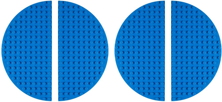 "Classic Big Briks Baseplates by Strictly Bricks | Premium 12.5"" Half Circle Brick Building Base Plates 