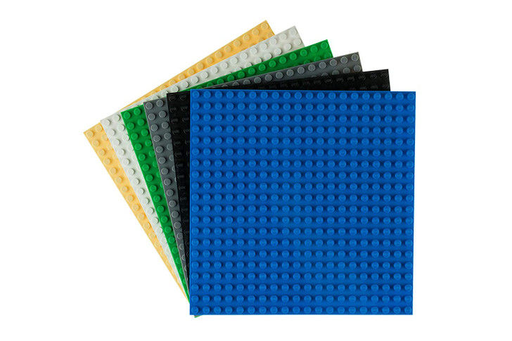"Strictly Briks Classic Baseplates 6"" x 6"" Building Brick Base Plates 100% Compatible with All Major Brands 