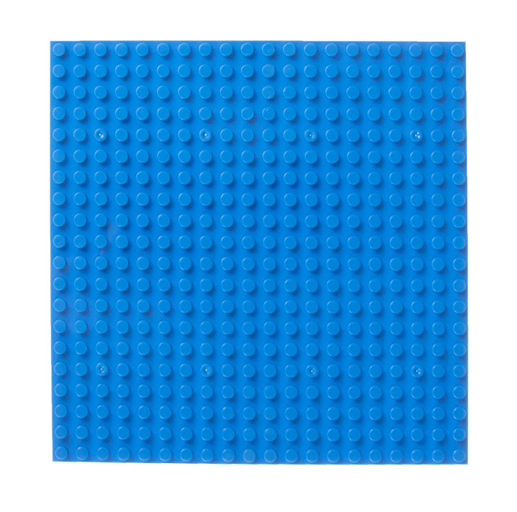 """Strictly Briks Classic Stackable 6"""" Half Circle, Triangle & Square Baseplate Brik Tower Building Brick Set   100% Compatible with All Major Brands   12 Base Plates   Blue"""