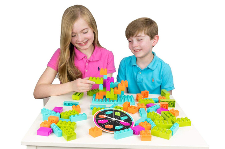 Strictly Briks Brik Builder Family Game for Toddlers and Kids | Board Game with Building Blocks and Bricks | Bricks Compatible with All Brands