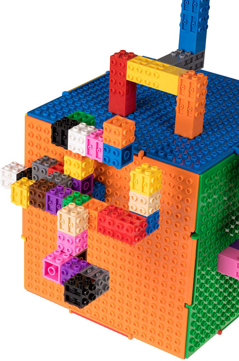 "Classic Creative Building Creatorz & The CUBE Set by Strictly Briks | Set is 100% Compatible with All Major Brick Brands | 60 Multicolored Creatorz with 6"" x 6"" The CUBE Set 