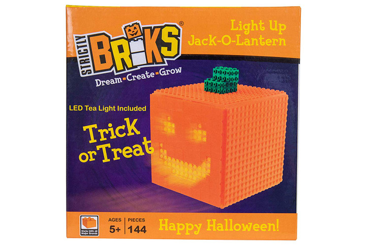 Halloween Building Brick Parent - Trick or Treat Construction Toy Stem Learning Create Grow More Compatible with All Major Building Brands - Pumpkin and Ghosts