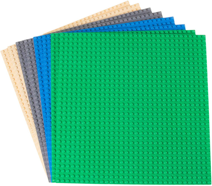 """Classic Baseplates 10"""" x 10"""" Building Brick Baseplates by Strictly Briks 