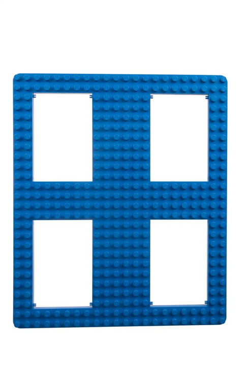 "Strictly Briks Classic Baseplate 13.75"" x 16.25"" Large Building Brick Baseplate with Holes 100% Compatible with All Major Brands 