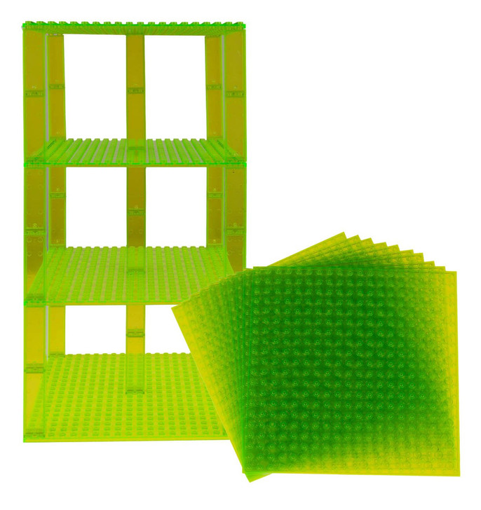 "Strictly Briks Classic Baseplates 6"" x 6"" Building Brick Baseplates Compatible with All Major Brands 