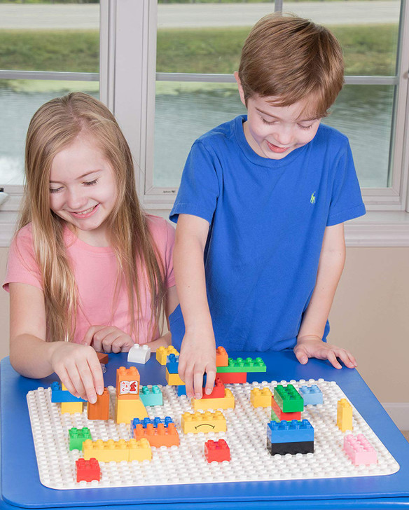 """Strictly Briks Classic Big Briks Baseplate 15"""" x 10.5"""" Large Building Brick Baseplate 100% Compatible with All Major Brands 