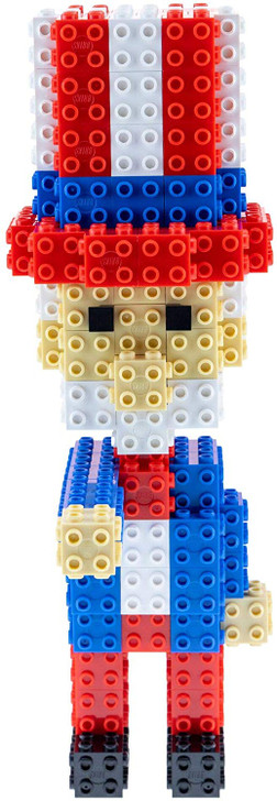 Strictly Briks Uncle Sam Building Bricks & Blocks Set | Independence Day Decoration & July 4th Toy Compatible with All Major Brands | Construction Toy Set for Kids, Classrooms, Schools | 129 Pieces