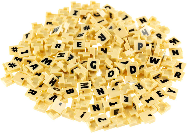 Strictly Briks   AlphaBriks and MathBriks   Letters and Numbers on Easy to Remove Brick Tiles   Compatible with All Major Brands